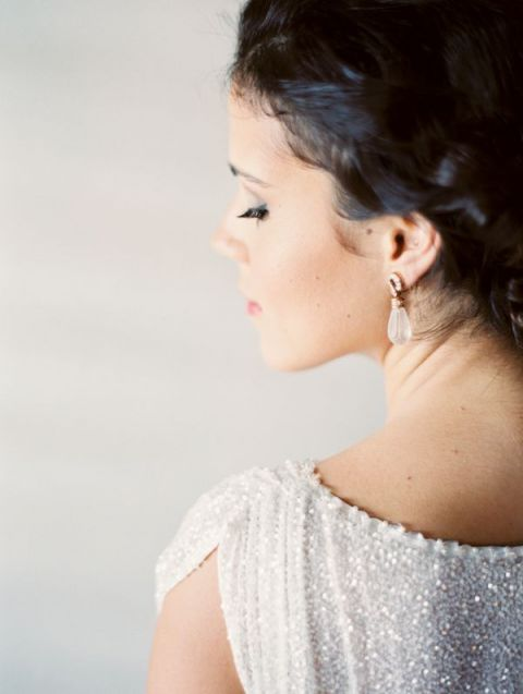 Glam Sparkling Bride | Erich Mcvey Photography | Coral Summer Wedding
