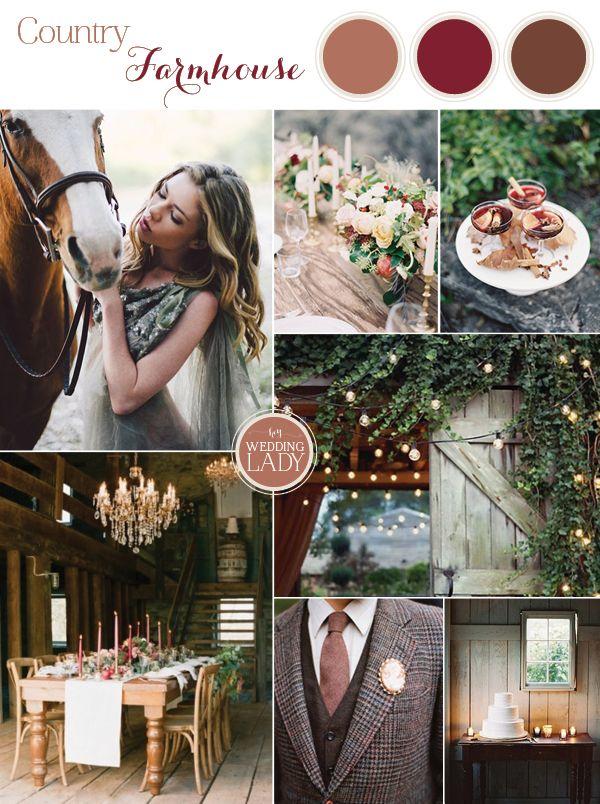 6 Earthy Fall Wedding Palettes