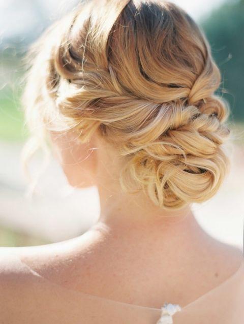 Elegant and Romantic Bridal Updo