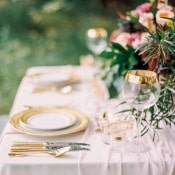 Romantic Sweetheart Table in Blush, Coral, and Gold | Milton Photography | Vibrant Florals and Preppy Patterns for a Fall Wedding