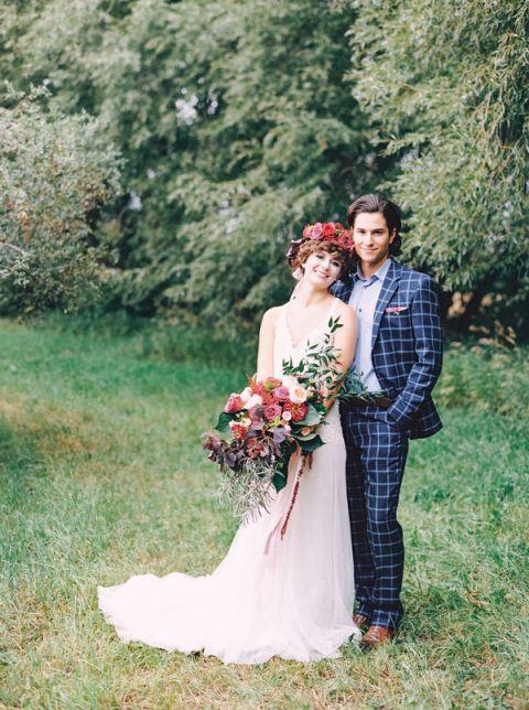 Patterns For Wedding Dresses 51 Elegant Vibrant Jewel Tone Wedding