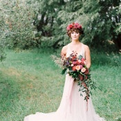 Ethereal Bride with Jewel Toned Flowers | Milton Photography | Vibrant Florals and Preppy Patterns for a Fall Wedding