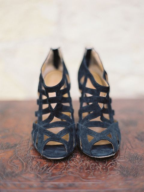 Strappy Black Heels | Jessica Burke Photography | Colorful California Mission Wedding Style