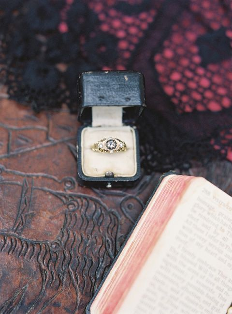 Vintage Engagement Ring | Jessica Burke Photography | Colorful California Mission Wedding Style