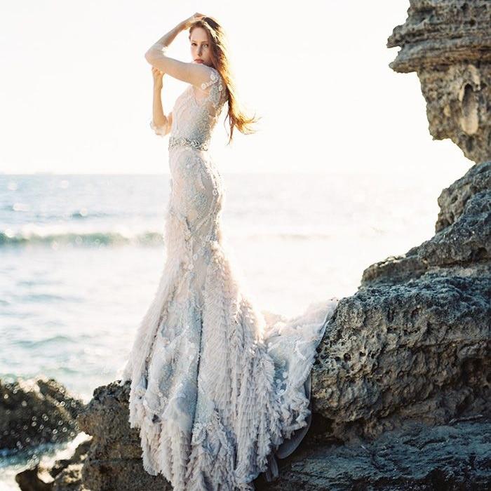Dramatic Fall Beach Wedding Inspiration