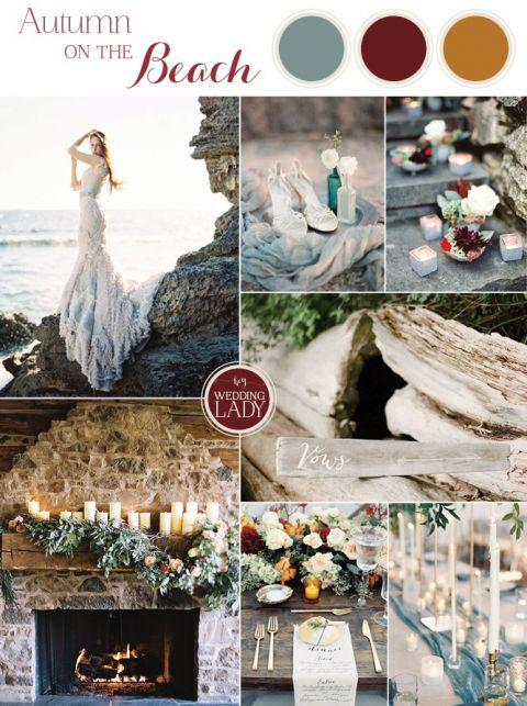 Rich and Moody Fall Beach Wedding