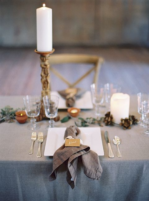 Gray and Taupe Natural Welcome Dinner | Jessica Burke Photography | Natural Beauty at the Style Fete W