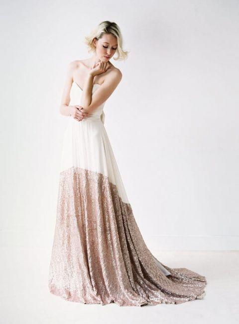 Simplest Wedding Dress 51 Inspirational Glitter Dipped Wedding Dress