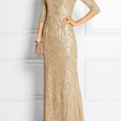 Long Sleeve Gold Wedding Dress | HWL Picks for a Metallic Fall Wedding