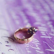 Copper and Amethyst Ring | Christie Graham Photography | Raw Gemstone Wedding Shoot