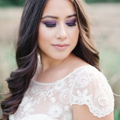 Dramatic Smoky Bridal Makeup | Christie Graham Photography | Raw Gemstone Wedding Shoot