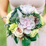 Lavender and Succulent Bouquet | Emily Katharine Photography | Pastel Natural Glam Wedding