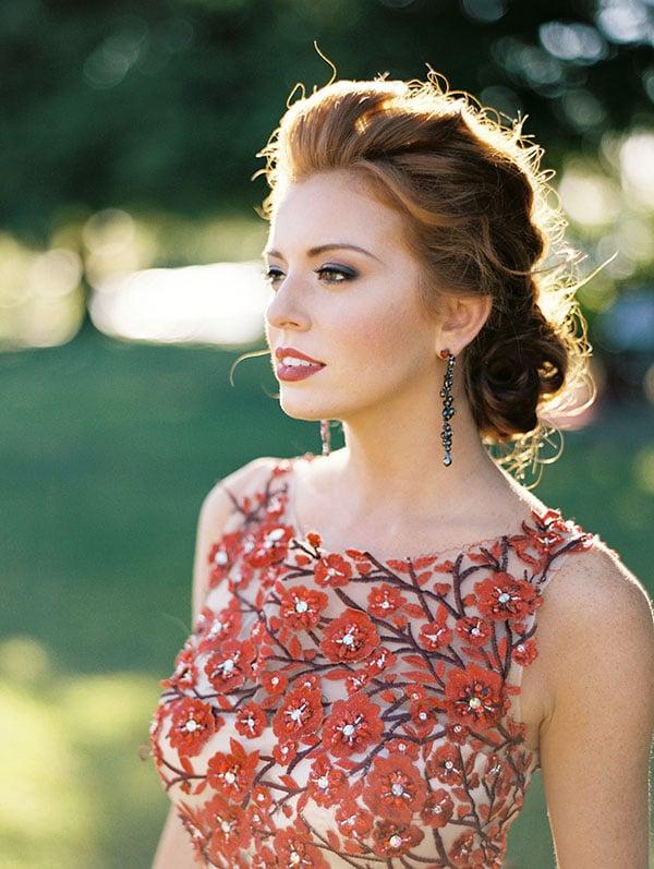Gorgeous Crimson Flower Gown Jeff Brummett Visuals Bold Fall