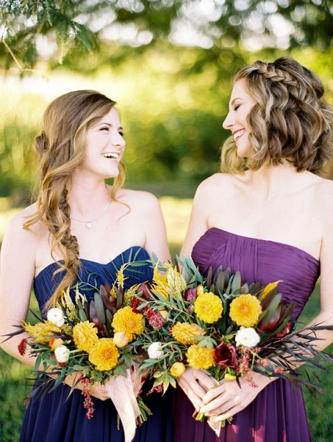 Blue And Purple Wedding Dress 47 Great Bridesmaids in Blue and