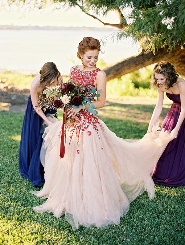 Fall Color Wedding Dresses Hd Photo