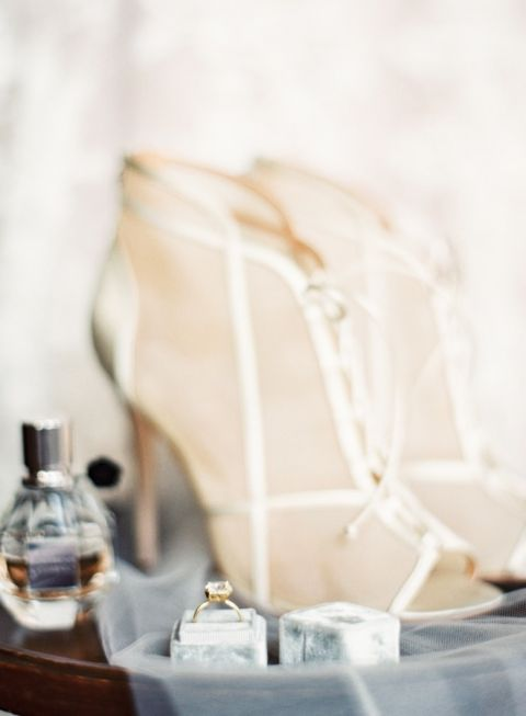 Strappy Wedding Shoes | Mint Photography | A Modern Pastel Wedding Palette