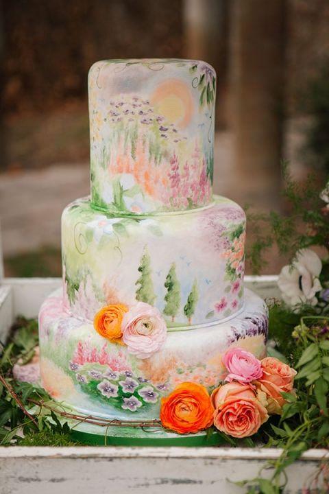 Rainbow Wedding Cakes 75 Perfect Pastel Watercolor Wedding Cake