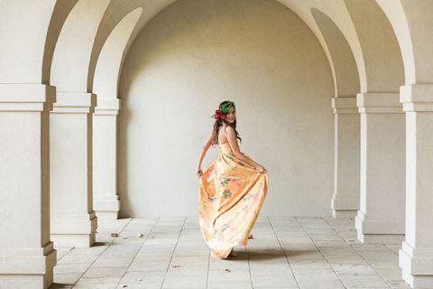 Yellow Floral Maxi Dress   Claire Marika and Alyssa Vincent   A High Fashion Bohemian Bridal Shower