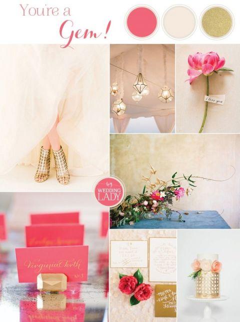 Modern Gemstone Wedding Ideas