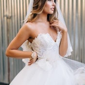 Gorgeous Floral Lace Wedding Dress | K. Holly Photography | Modern Bridal Glam from Hayley Paige and Haute Bride!