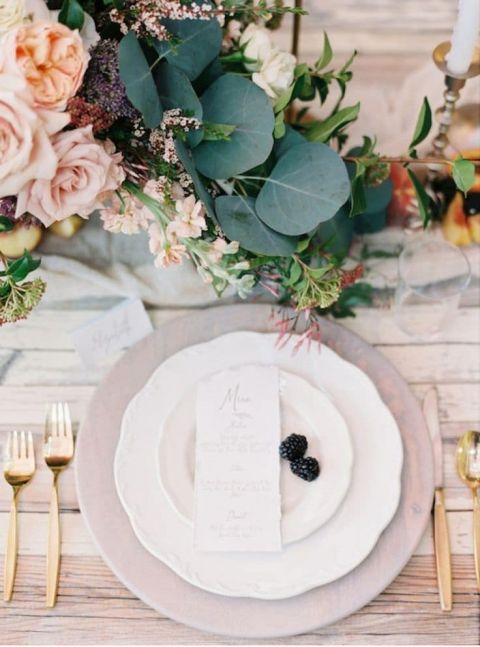 Pastel Pink and Purple Place Setting | Of Georgia Photography | Delicate Opal Inspired Wedding Palette