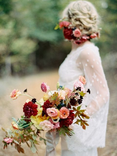 Wedding Bouquet Ideas 77 Ideal Loose and Natural Autumn