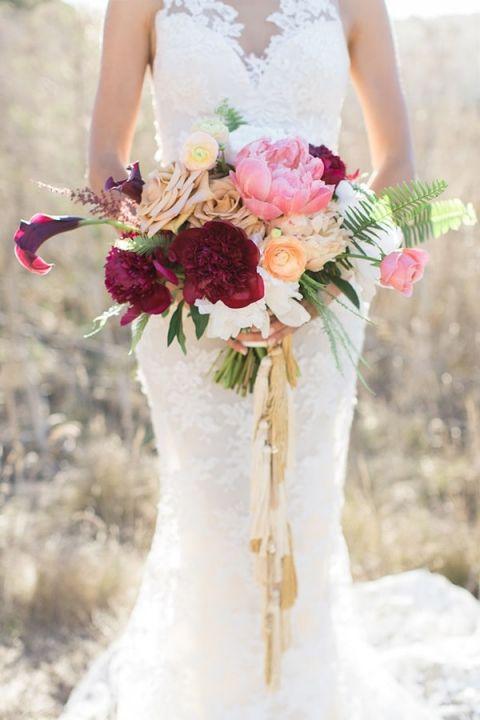 Wedding Bouquet Ideas 24 Good Burgundy and Gold Wedding