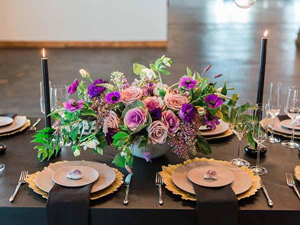 Gold and Purple Decor | Jeff Brummett Visuals | City Chic Wedding ...
