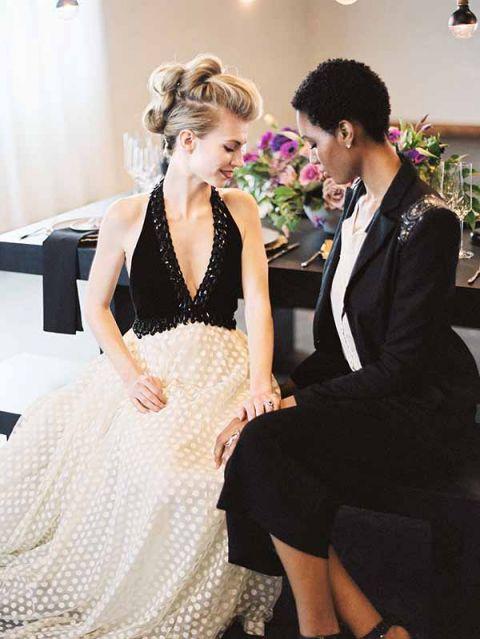Black Purple Wedding Dresses 90 Inspirational Fashion Forward Brides Jeff