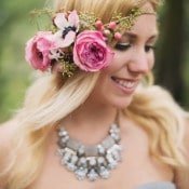 Beautiful Rustic Glam Bride | Summer Shea Photography | https://heyweddinglady.com/romantic-mountain-wedding-shoot-lilac-gray-pink/