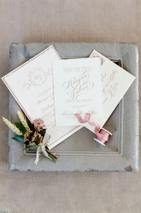 Elegant Gold Calligraphy Invitations | Tamara Gruner Photography | https://heyweddinglady.com/frosted-lavender-winter-purple-berry-wedding-inspiration/