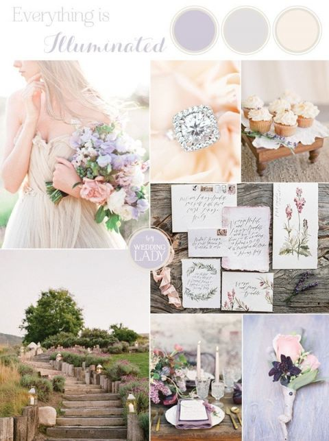 Ethereal gray winter wedding ideas hey wedding lady luminous lilac gray wedding palette httpsheyweddingladyethereal junglespirit