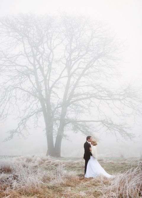 Winter Wedding Ideas 99 Vintage Misty Winter Wedding Portraits