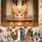 Elegant Chapel Wedding Ceremony | Audrey Rose Photography | http://heyweddinglady.com/playful-elegant-southern-blush-wedding-floral-print/