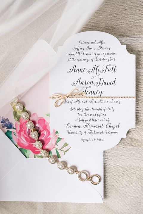 Delicate Jewelry and Floral Print Invitations | Audrey Rose Photography | http://heyweddinglady.com/playful-elegant-southern-blush-wedding-floral-print/