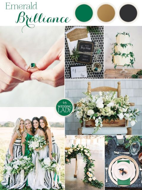 Modern Preppy Wedding in Black, Gold, and Emerald with Mixed Prints! | https://heyweddinglady.com/modern-preppy-wedding-black-gold-emerald-mixed-prints/