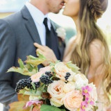 A Garden Romance in Rose Quartz and Serenity | Jennifer Munoz Photography |