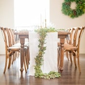 Scandinavian Inspired Winter Wedding with a Greenery Runner | Gavin Farrington Photography | Event Design and Styling by Glow Event Design - http://heyweddinglady.com/winter-chic-intimate-holiday-wedding-cozy-neutrals