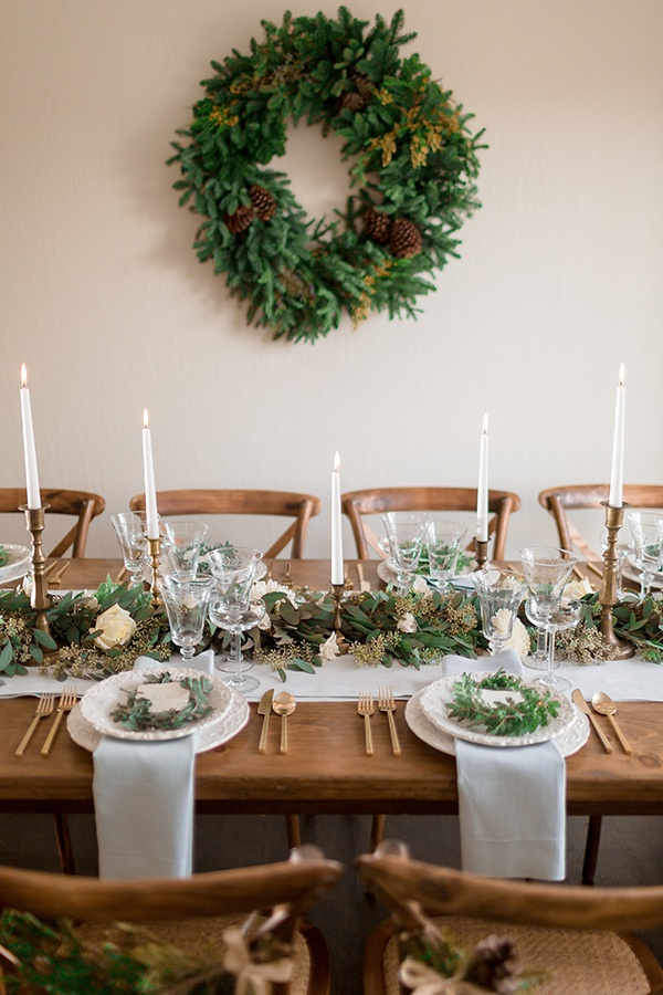 Winter chic intimate holiday wedding with cozy neutrals