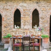 Tuscan Castle Courtyard Wedding | Alexis Rose Photography | https://heyweddinglady.com/fine-art-italy-tuscan-destination-wedding-olive-grove/