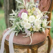 Mauve and Lavender Spring Bridal Bouquet | Alexis Rose Photography | https://heyweddinglady.com/fine-art-italy-tuscan-destination-wedding-olive-grove/