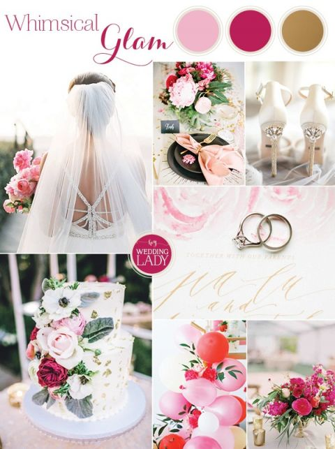 Whimsical Glam Wedding in Pink and Gold Inspired by Hayley Paige!