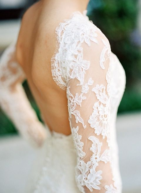 Long Sleeve Off the Shoulder Lace Wedding Dress with an Open Back | Joshua Gull Photography | Hey Wedding Lady Picks for a Fabulous 2016 Wedding! - https://heyweddinglady.com/hey-wedding-ladys-picks-fabulous-2016-wedding/