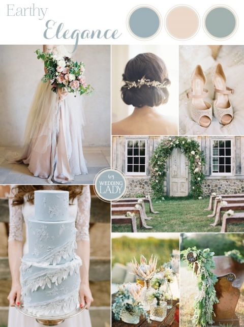 Earthy And Elegant Rustic Wedding In Dusty Blue Taupe