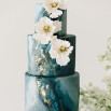 The Gilded Age - A Dark Romance Wedding in Teal, Charcoal Gray, and Gold Leaf
