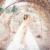 A Winter Garden Bridal Shoot with a Gold Wedding Dress