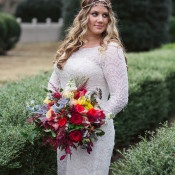 Fall Bride in a Modern Bohemian Wedding Dress | Soul Child Photography | http://heyweddinglady.com/colorful-bohemian-wedding-fall/
