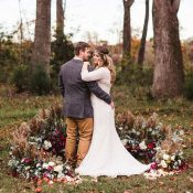 Colorful Bohemian Wedding in the Fall