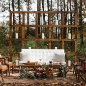 Rustic Meets Modern Reception Lounge | Soul Child Photography | https://heyweddinglady.com/colorful-bohemian-wedding-fall/