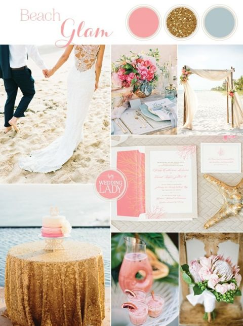 Tropical Beach Glam Bahamas Wedding in Sparkling Gold and Pink! | https://heyweddinglady.com/tropical-beach-glam-bahamas-wedding-sparkling-gold-pink/